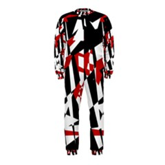 Red, black and white chaos OnePiece Jumpsuit (Kids)