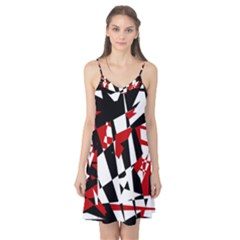 Red, black and white chaos Camis Nightgown