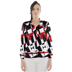 Red, black and white chaos Wind Breaker (Women)
