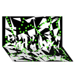 Black, white and green chaos #1 MOM 3D Greeting Cards (8x4)