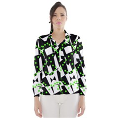 Black, white and green chaos Wind Breaker (Women)