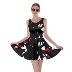 Black, Red And White Chaos Skater Dress