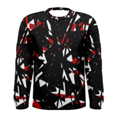 Black, red and white chaos Men s Long Sleeve Tee