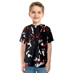 Black, red and white chaos Kid s Sport Mesh Tee