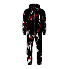 Black, red and white chaos Hooded Jumpsuit (Kids)