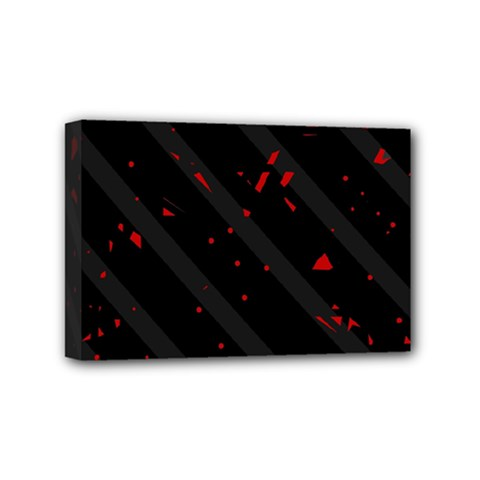 Black and red Mini Canvas 6  x 4