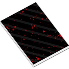 Black and red Large Memo Pads