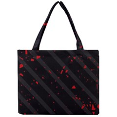 Black and red Mini Tote Bag