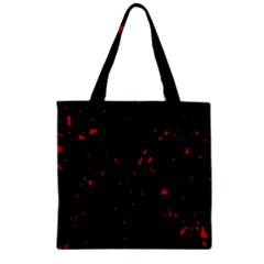 Black and red Zipper Grocery Tote Bag