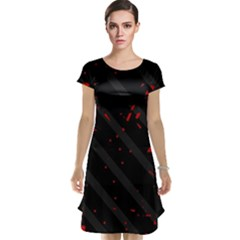 Black and red Cap Sleeve Nightdress