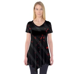 Black and red Short Sleeve Tunic