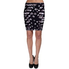 Gray abstract design Bodycon Skirt