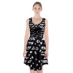 Gray abstract design Racerback Midi Dress