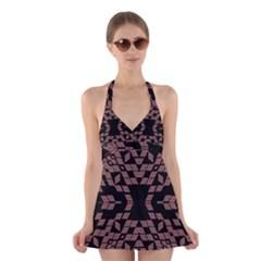 EARTH TOONS Halter Swimsuit Dress