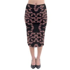 Earth Toons Midi Pencil Skirt
