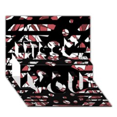 Red Freedam Miss You 3d Greeting Card (7x5)