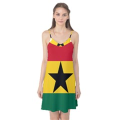Flag Map of Ghana Camis Nightgown