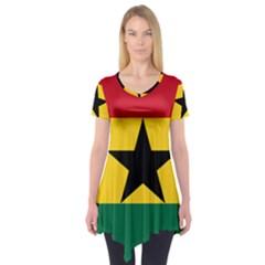 Flag Map of Ghana Short Sleeve Tunic