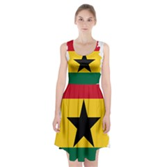 Flag Map of Ghana Racerback Midi Dress