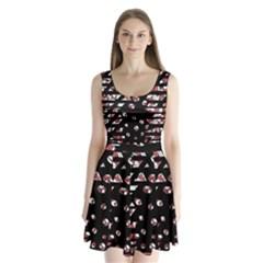 Red freedam Split Back Mini Dress