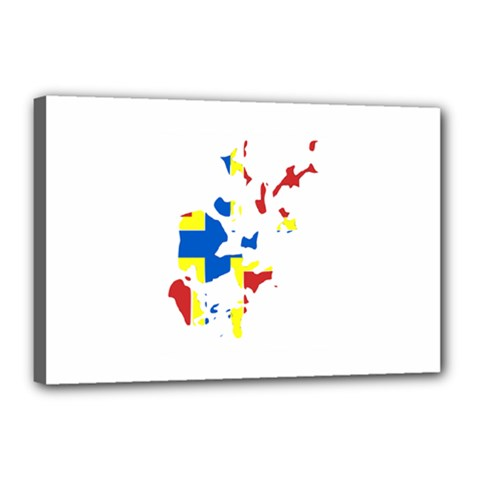 Flag Map of Orkney Islands  Canvas 18  x 12
