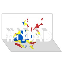 Flag Map of Orkney Islands  #1 DAD 3D Greeting Card (8x4)