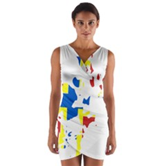 Flag Map of Orkney Islands  Wrap Front Bodycon Dress