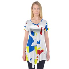 Flag Map of Orkney Islands  Short Sleeve Tunic