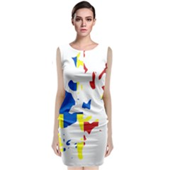 Flag Map of Orkney Islands  Classic Sleeveless Midi Dress