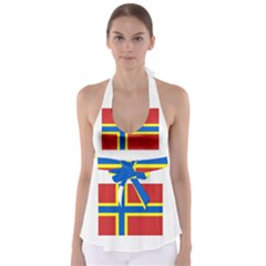 Flag of Orkney Babydoll Tankini Top