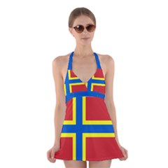 Flag of Orkney Halter Swimsuit Dress