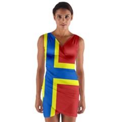 Flag of Orkney Wrap Front Bodycon Dress