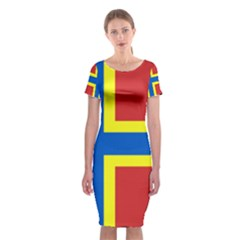 Flag Of Orkney Classic Short Sleeve Midi Dress