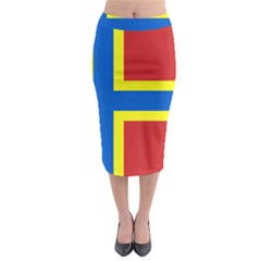 Flag Of Orkney Midi Pencil Skirt