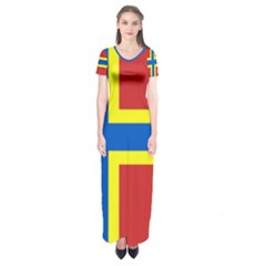 Flag Of Orkney Short Sleeve Maxi Dress