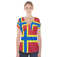 Flag Of Orkney Short Sleeve Front Detail Top
