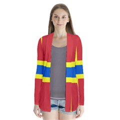 Flag Of Orkney Drape Collar Cardigan