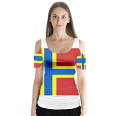 Flag Of Orkney Butterfly Sleeve Cutout Tee