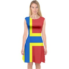 Flag Of Orkney Capsleeve Midi Dress