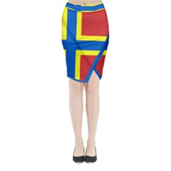 Flag Of Orkney Midi Wrap Pencil Skirt