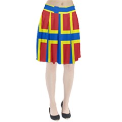 Flag Of Orkney Pleated Skirt