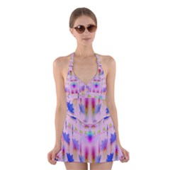 Rainbows And Leaf In The Moonshine Halter Swimsuit Dress