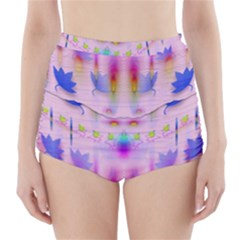 Rainbows And Leaf In The Moonshine High Waisted Bikini Bottoms