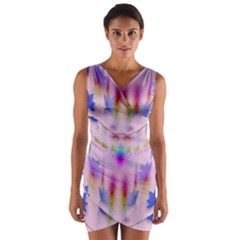 Rainbows And Leaf In The Moonshine Wrap Front Bodycon Dress