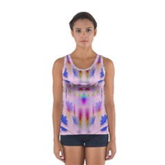 Rainbows And Leaf In The Moonshine Women s Sport Tank Top
