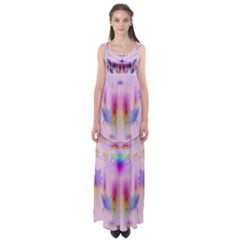 Rainbows And Leaf In The Moonshine Empire Waist Maxi Dress
