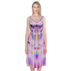 Rainbows And Leaf In The Moonshine Midi Sleeveless Dress