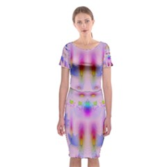 Rainbows And Leaf In The Moonshine Classic Short Sleeve Midi Dress
