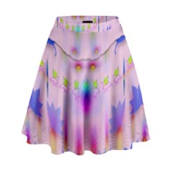 Rainbows And Leaf In The Moonshine High Waist Skirt