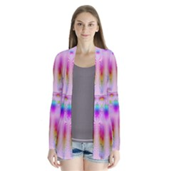 Rainbows And Leaf In The Moonshine Drape Collar Cardigan